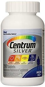 Centrum Silver Multivitamin Supplement, Men 50+, 200 Count