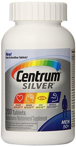 Centrum善存 50岁之上中老年男士 复合维生素及矿物质银片200粒