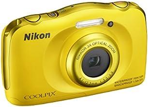 """Nikon Coolpix S33 Fotocamera Digitale Compatta, 13,2 Megapixel, Zoom 3X, 3200 ISO, LCD 3"""", Full HD, Giallo [Nital Card: 4 Anni di Garanzia]"""