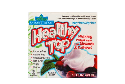 MimicCreme Non-Dairy Whippable Cream Substitute, 16-Ounce Boxes (Pack of 6)