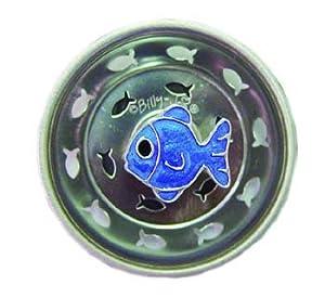 Funky Blue Fish Kitchen Sink Strainer Drain Decor
