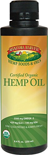 Manitoba Harvest Organic Hemp Oil - 8 fl oz -pack of 3