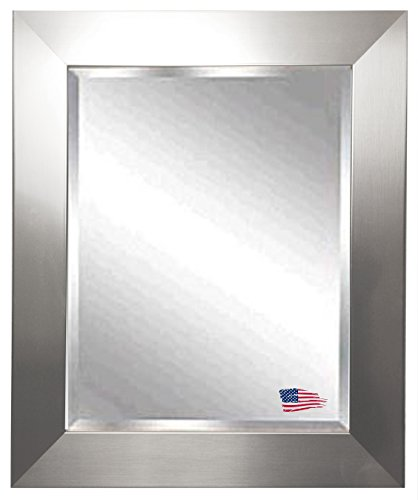 American Made Rayne Silver Wide Beveled Wall Mirror, 41.5 X 35.5 front-1050650