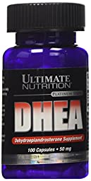 Ultimate Nutrition DHEA-Dehydroepiandrosterone Capsules, 50 mg, 100 Count Bottle