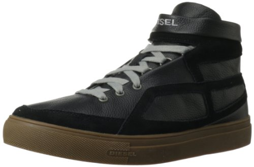 Diesel Men's Route Hi Top Fashion Sneaker,Black,8 M US