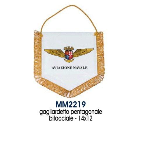 Giemme articoli promozionali - Gagliardetto 14X12 Cm Aviazione Navale Marina Militare Prodotto Ufficiale