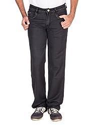 Fame Denim Lycra Regular Fit Casual Man's Dark Blue Jeans