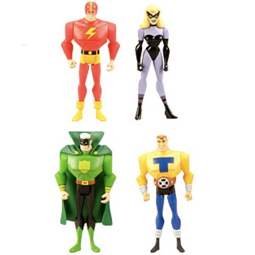 Buy Low Price Mattel DC Universe Justice League Unlimited Exclusive Justice Guild Set of 4 Action Figures (B0039WA1G4)