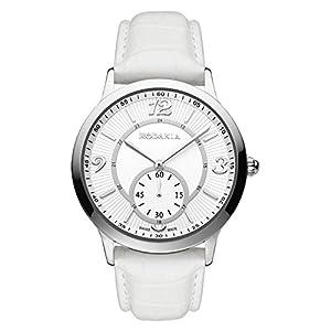 RODANIA 25027-28 38mm Stainless Steel Case White Calfskin Mineral Women's Watch