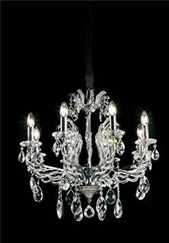 Symphony Eight Light Chandelier in Chrome