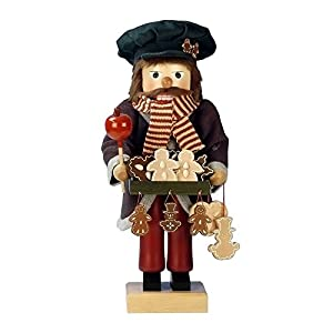 "0-385 - Christian Ulbricht Nutcracker - Gingerbread Vendor - Ltd Edition 1000 pcs - 18""""H x 7.5""""W x 7.5""""D"