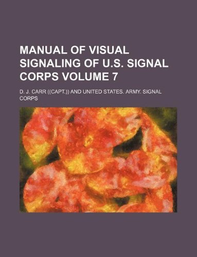 Manual of visual signaling of U.S. Signal Corps Volume 7