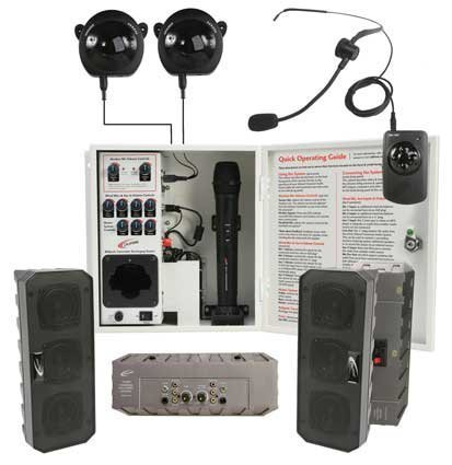 Califone Pa-Irsys Infrared Classroom Audio System With 2 Non-Powered Array Speaker System, Two Ceiling-Mounted Ir Receivers (More Than What Other Brands Offer As Standard Equipment) Deliver Twice The Reception With Less Signal Drop Out And Allows Increase