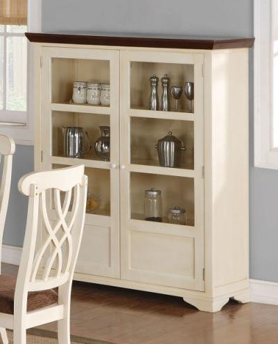 Buy Low Price Addison Collection Buttermilk Cherry Dining Curio Cabinet (B008A1C162)