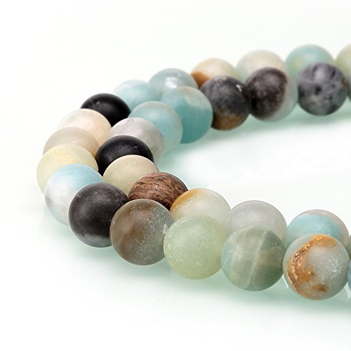 BRCbeads Amazonite Natural Gemstone Loose Beads 10mm Matte Round Crystal Energy Stone Healing Power for Jewelry Making (Crystal Beads 10mm compare prices)