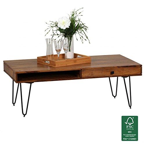 WOHNLING-Couchtisch-Massiv-Holz-Sheesham-120cm-breit-Wohnzimmer-Tisch-Design-Metallbeine-Landhaus-Stil-Beistelltisch-Natur-Produkt-Wohnzimmermbel-Unikat-modern-Massivholzmbel-Echtholz-rechteckig
