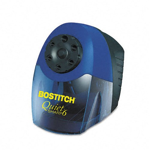 Stanley Bostitch : Quiet Sharp 6 Commercial Desktop Electric Pencil Sharpener, Blue -:- Sold as 2 Packs of - 1 - / - Total of 2 Each (Stanley Bostitch Quiet Sharp 6 compare prices)