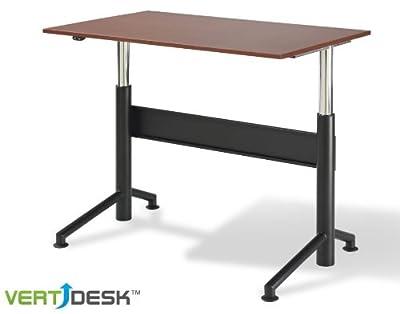 """VertdeskTM 30"""" x 48"""" Electric Adjustable Stand Up Desk"""