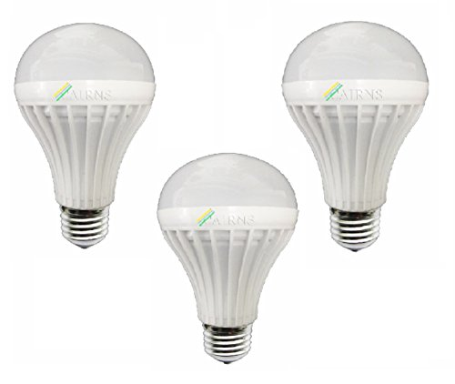 9W White E27 LED Bulb (Set of 3)