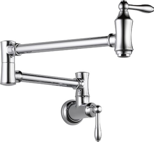 Learn More About Delta 1177LF Pot Filler Faucet - Wall Mount, Chrome