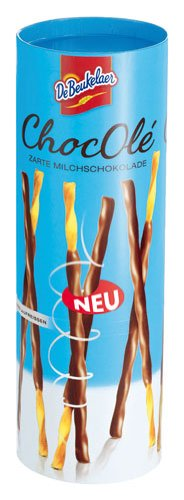 DeBeukelaer ChocOlé weet Breadsticks with milk chocolate - 75gr