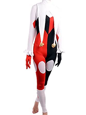 Amazon.com: Harley Quinn Costume Women Adult Joker Clown Cosplay Halloween: Clothing