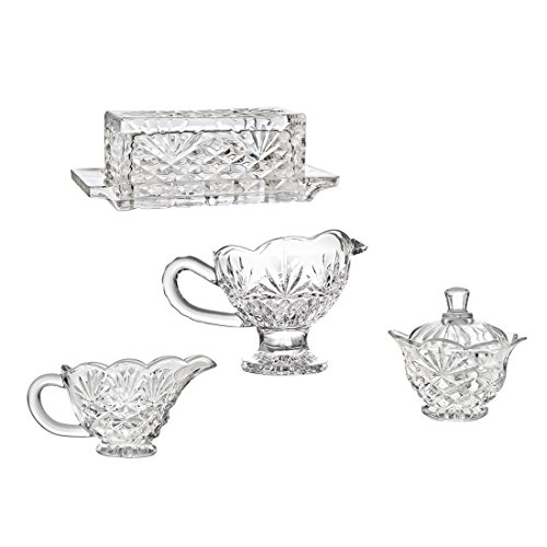 Godinger Shannon 4 Piece Hostess Set (Butter And Sugar Dish compare prices)