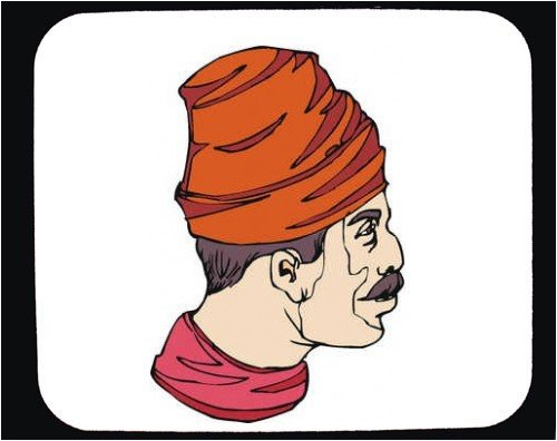 Mouse Pad with man, face, turban, Texas, profile, hat - Buy Mouse Pad with man, face, turban, Texas, profile, hat - Purchase Mouse Pad with man, face, turban, Texas, profile, hat (SHOPZEUS, Office Products, Categories, Office Supplies, Desk Accessories)