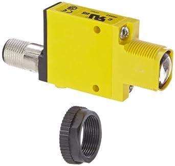 Banner SM31ELQD Mini Beam Photoelectric Sensor, Opposed Mode Emitter, 4-Pin Euro-Style QD Connector, Infrared LED, 10-30 VDC Supply Voltage, 30 m Sensing Range