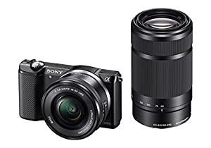 Sony Alpha a5000 Interchangeable Lens Camera w/16-50mm and 55-210 Lens (Black) (Certified Refurbished)