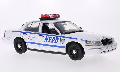 ford-crown-victoria-police-interceptor-nypd-2001-voiture-miniature-miniature-deja-montee-greenlight-