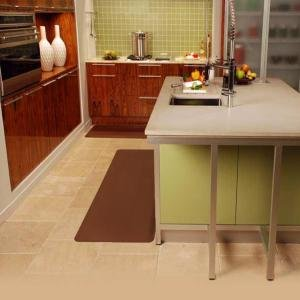 WellnessMats Anti-Fatigue Kitchen Mat - 6 x 2 ft. - Brown 62WMR-BR