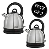 2x Russell Hobbs 19191 Dome Kettle