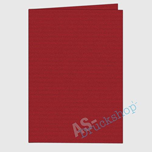 faltkarte doppelkarte din a5 rot gerippt 1 st ck. Black Bedroom Furniture Sets. Home Design Ideas