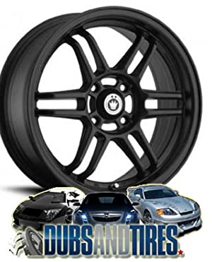 15 Inch 15×6.5 Konig wheels Lightspeed Matte Black wheels rims