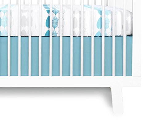 Olli & Lime Forrest Crib Skirt, Blue/White - 1