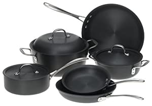 Calphalon DS9DC Commercial 9-Piece Hard-Anodized Cookware Set