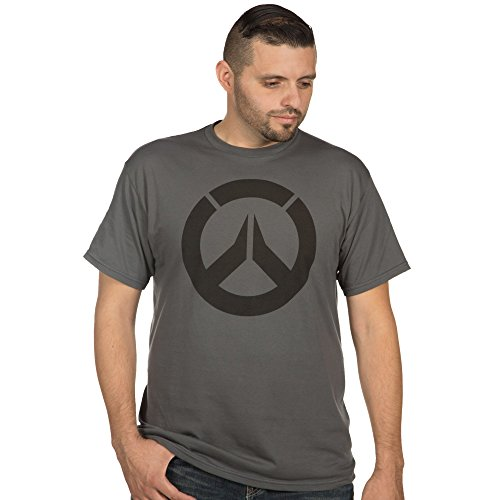 Overwatch Logo Men's Short Sleeve T-Shirt Charcoal Medium (Cool Video Game Merchandise compare prices)