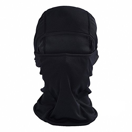 Maoko Cycling Outdoor Sports Hood Full Face Mask Hat Windproof- Airsoft Balaclava Mesh Face Mask Black
