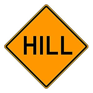 MUTCD W7-1a Orange Truck Hill Sign, 3M Reflective Sheeting, Highest Gauge Aluminum,Laminated, UV Protected, Made in U.S.A