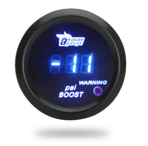 Docooler Digital Turbo Boost Gauge Meter with Sensor for Auto Car 52mm 2in LCD -14~29 PSI Warning Light Black (Boost Gauge Digital compare prices)