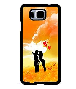 Fuson Premium Have Fun Metal Printed with Hard Plastic Back Case Cover for Samsung Galaxy Alpha