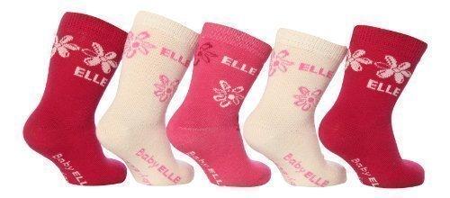 Elle -  Calzini  - Floreale - Bebè femminuccia rosa 2 mesi