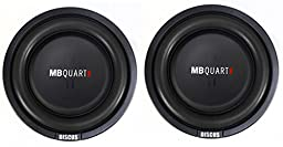MB Quart DS1-204 400W 8 Inch Shallow Slim Subs Dvc Subwoofers Pair (Pair)