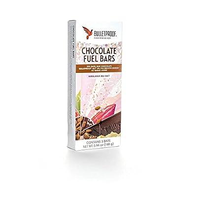 Bulletproof Sugar Free Chocolate Fuel Bars - Himalayan Salt - 3 Bars 168g by Bulletproof