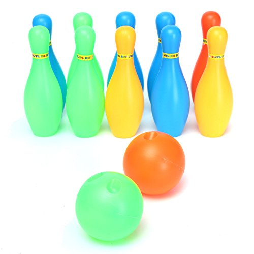 [Free Shipping] 10pcs Set Child Baby Girl Boy Toddler Funny Colorful Bowling Game Toy Two Balls Gift // 10pcs fijado niño niña niño pequeño juguete divertido colorido juego de bolos regalo dos bolas