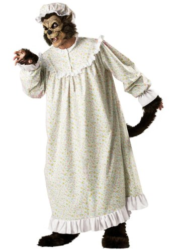 Incharacter Mens Granny Nightgown Storybook Scary Big Bad Wolf Costume