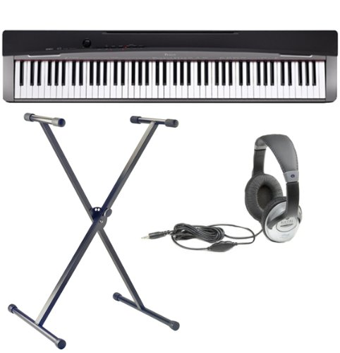Casio Privia PX-130 Digital Piano Bundle with Stand and Headphones