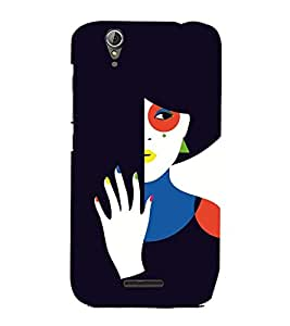 EPICCASE intriguing lady Mobile Back Case Cover For Acer Liquid Z630 (Designer Case)