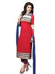 StarMart Women's Chanderi Cotton Unstitched Salwar Kameez Dress Material-9709